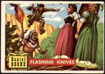 1956 Topps Round Up #46   -  Daniel Boone  Flashing Knives Front Thumbnail
