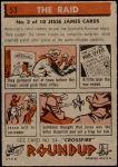 1956 Topps Round Up #53   -  Jesse James  The Raid Back Thumbnail