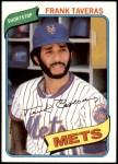 1980 Topps #456  Frank Taveras  Front Thumbnail