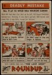 1956 Topps Round Up #9   -  Wild Bill Hickok  Deadly Mistake Back Thumbnail