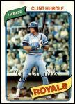 1980 Topps #525  Clint Hurdle  Front Thumbnail