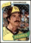 1980 Topps #352  Dan Briggs  Front Thumbnail