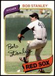 1980 Topps #63  Bob Stanley  Front Thumbnail