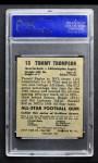 1949 Leaf #13  Tommy Thompson  Back Thumbnail