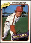 1980 Topps #136  Dick Ruthven  Front Thumbnail