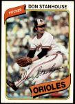 1980 Topps #517  Don Stanhouse  Front Thumbnail