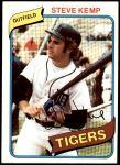 1980 Topps #315  Steve Kemp  Front Thumbnail