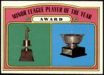1972 Topps #624   Minor League Player of the Year Award Front Thumbnail