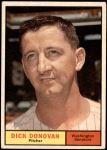 1961 Topps #414  Dick Donovan  Front Thumbnail