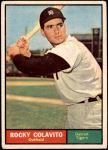 1961 Topps #330  Rocky Colavito  Front Thumbnail