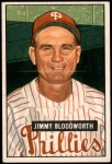 1951 Bowman #185  Jimmy Bloodworth  Front Thumbnail