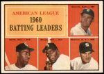 1961 Topps #42   -  Minnie Minoso AL Batting Leaders Front Thumbnail