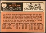 1966 Topps #124  Tug McGraw  Back Thumbnail