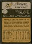 1973 Topps #211  Balor Moore  Back Thumbnail