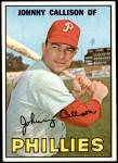 1967 Topps #85  Johnny Callison  Front Thumbnail