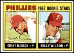 1967 Topps #402 S  -  Grant Jackson / Billy Wilson Phillies Rookies Front Thumbnail