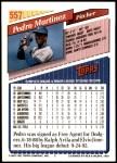 1993 Topps #557  Pedro Martinez  Back Thumbnail