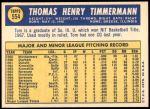1970 Topps #554  Tom Timmermann  Back Thumbnail