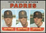 1970 Topps #573   -  Rafael Robles / Ron Slocum / Mike Corkins Padres Rookies Front Thumbnail