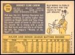 1970 Topps #290  Rod Carew  Back Thumbnail