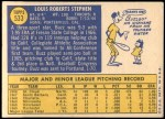 1970 Topps #533  Buzz Stephen  Back Thumbnail