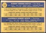 1970 Topps #539   -  Larry Bowa / Denny Doyle Phillies Rookies Back Thumbnail