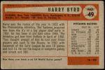 1954 Bowman #49  Harry Byrd  Back Thumbnail