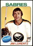 1975 Topps #28  Jim Lorentz   Front Thumbnail
