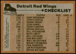 1975 Topps #87   Red Wings Team Checklist Back Thumbnail