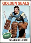 1975 Topps #190  Gilles Meloche   Front Thumbnail