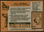 1975 Topps #103  Billy Lochead   Back Thumbnail