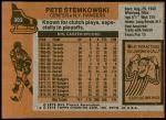 1975 Topps #303  Pete Stemkowski   Back Thumbnail