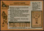 1975 Topps #64  Danny Gare  Back Thumbnail