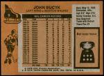 1975 Topps #9  Johnny Bucyk   Back Thumbnail