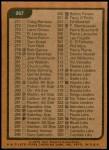 1975 Topps #267   Checklist Back Thumbnail