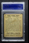 1939 Play Ball #5  Luke Sewell  Back Thumbnail