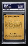 1940 Play Ball #219  Russ Bauers  Back Thumbnail