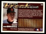 1995 Topps Traded #10 T Matt Williams  Back Thumbnail