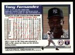 1995 Topps Traded #70 T Tony Fernandez  Back Thumbnail