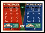 1995 Topps Traded #164 T  -  Hideo Nomo / Randy Johnson All-Star Back Thumbnail