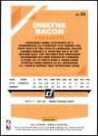2019 Donruss #23  Dwayne Bacon  Back Thumbnail