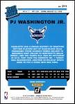 2019 Donruss #211   -  PJ Washington Jr. Rated Rookie Back Thumbnail