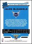 2019 Donruss #247   -  Jalen McDaniels Rated Rookie Back Thumbnail