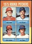 1975 Topps Mini #615   -  Dennis Leonard / Tom Underwood / Pat Darcy / Hank Webb Rookie Pitchers Front Thumbnail