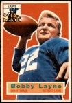 1956 Topps #116  Bobby Layne  Front Thumbnail