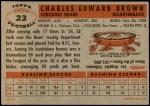 1956 Topps #23  Ed Brown  Back Thumbnail