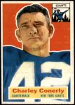 1956 Topps #77  Charley Conerly  Front Thumbnail