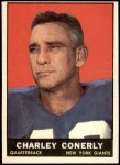 1961 Topps #85  Charley Conerly  Front Thumbnail