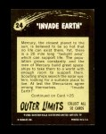 1964 Outer Limits #24   Invade Earth Back Thumbnail