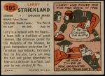 1957 Topps #105  Larry Strickland  Back Thumbnail